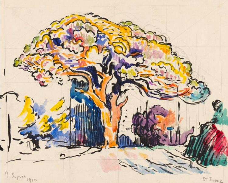 Pin Bertaud peint par Paul Signac